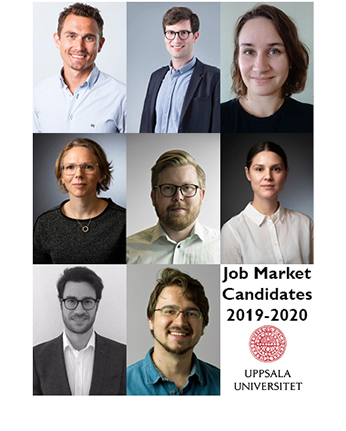 Porträttbilder på institutionens Job market kandidater